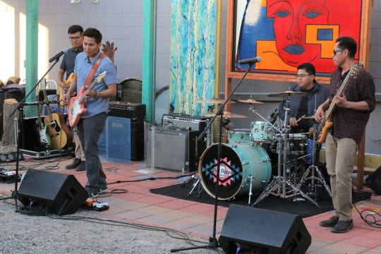 The Levi Platero Band performs Tuesday night in the Studio 116 pocket park in downtown Farmington as part of the San Juan Jazz Society concert series.