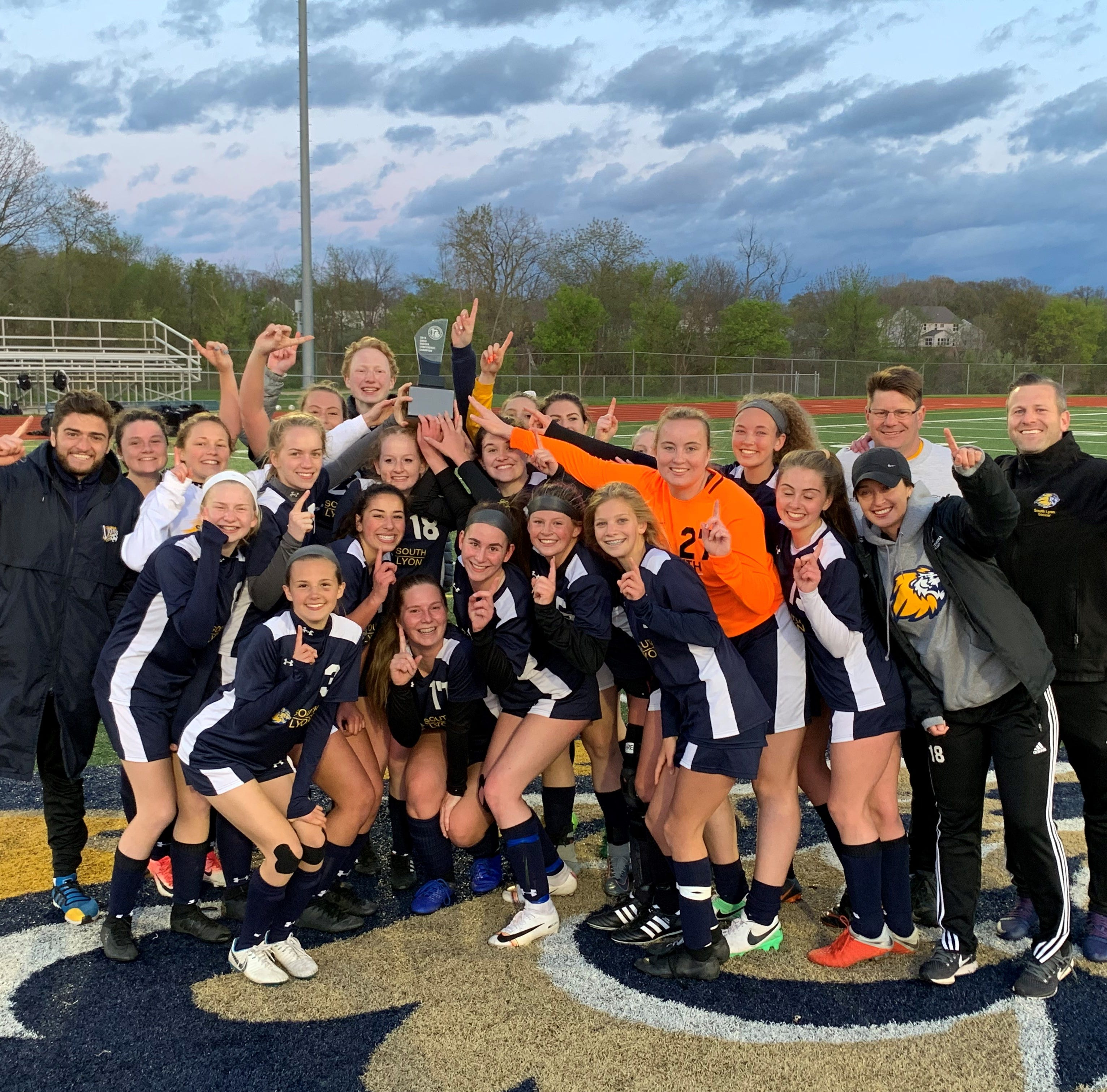 South Lyon girls soccer wins Lakes Valley Conference championship