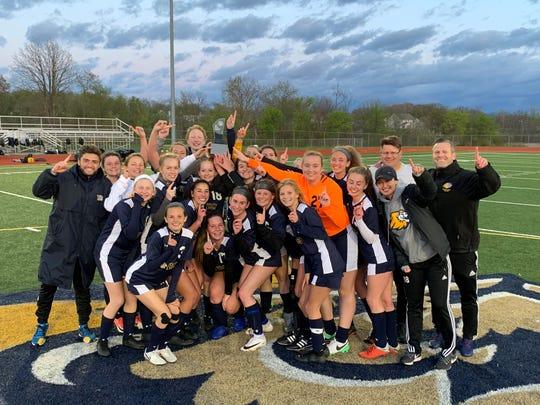 The South Lyon girls soccer team captured the LVC championship.