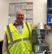 Jeff McKeen, head of the SOCRRA recycling facility  gave visitors insights into the operation of the facility.