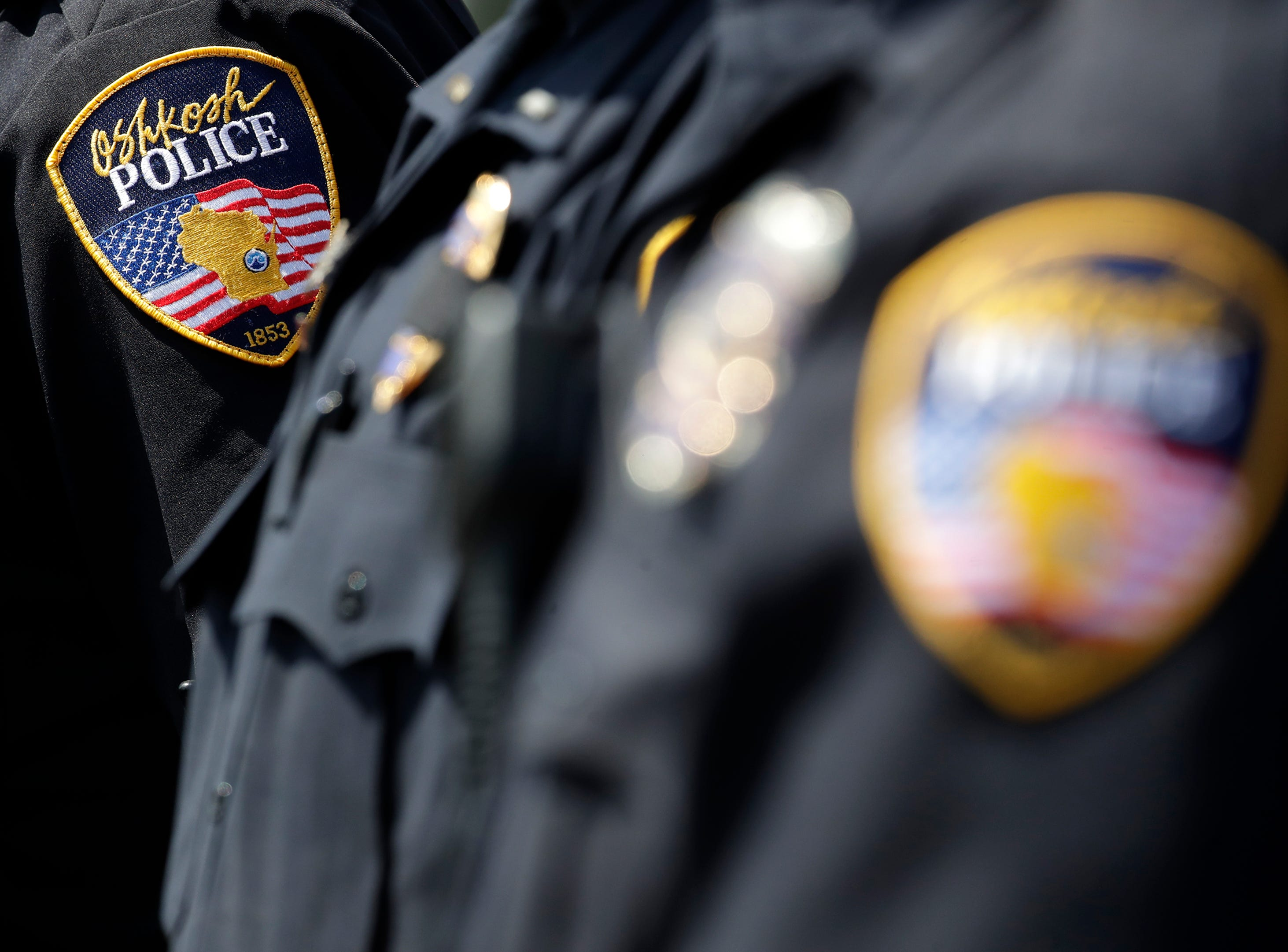 Oshkosh police officers during their Law Enforcement Memorial Ceremony Wednesday, May 15, 2019, at the Oshkosh Police Department in Oshkosh, Wis. Danny Damiani/USA TODAY NETWORK-Wisconsin