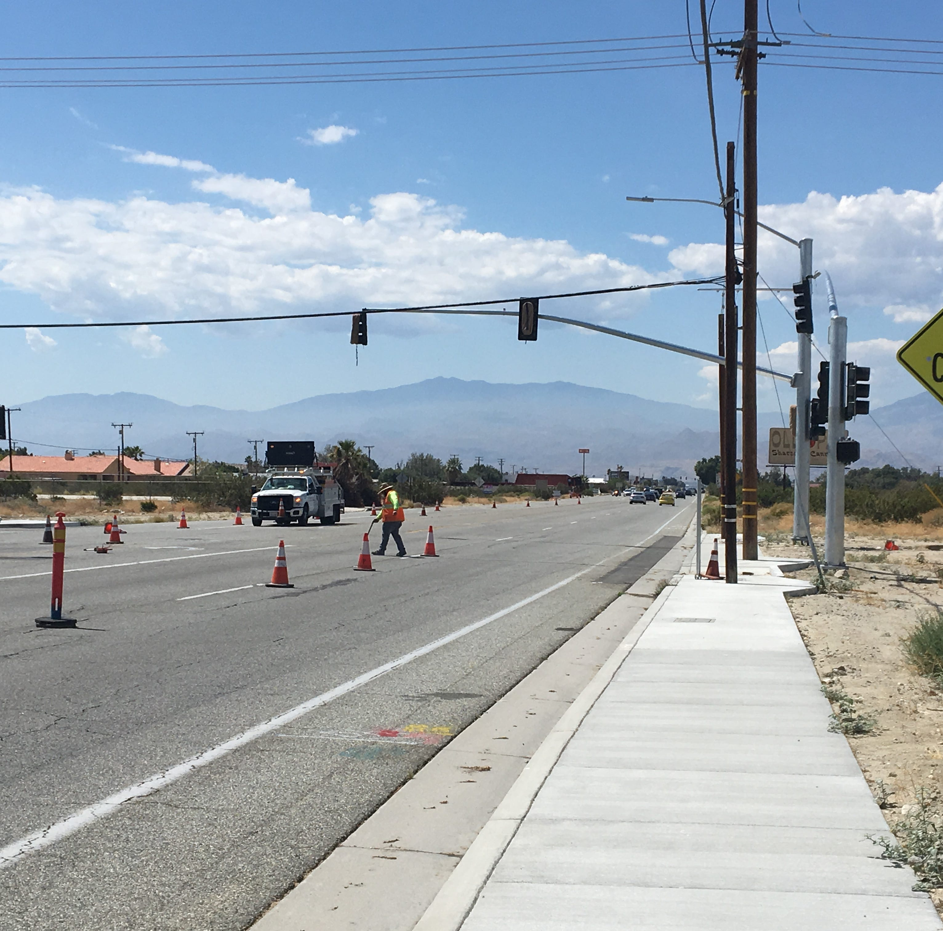 Palm Drive has a new traffic signal and it may activate by the end of the week