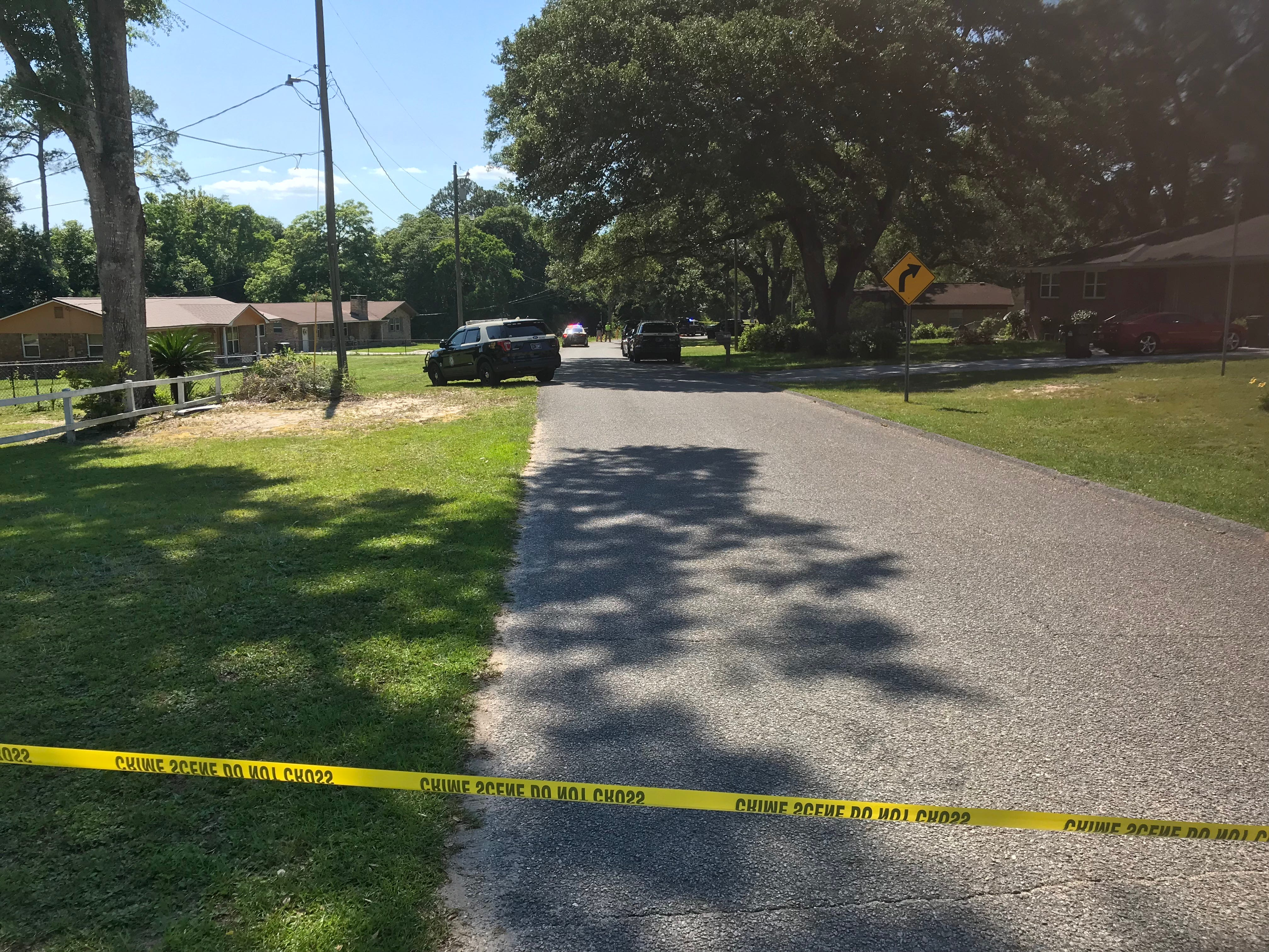 Law enforcement on Wednesday, May 15, 2019, responds to the scene where police say a young girl died after she as struck by a vehicle.