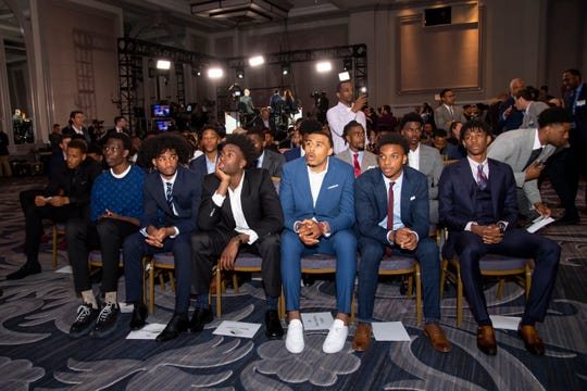 Some of the NBA draft's top prospects are seen at 2019 NBA Draft Lottery at the Hilton Chicago.