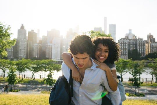 "Natasha (Yara Shahidi) and Daniel (Charles Melton) are the stars in ""The Sun Is Also a Star."""