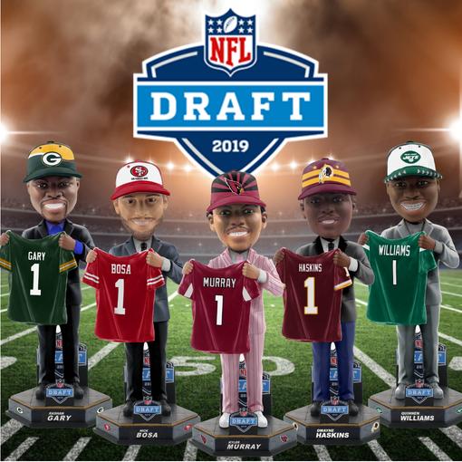 2019 NFL draft bobbleheads.