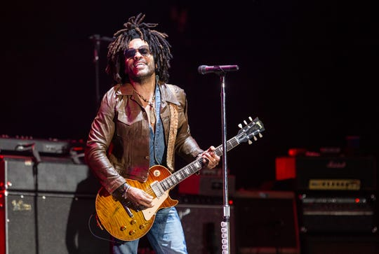 Lenny Kravitz performs at Lollapalooza Buenos Aires 2019 at Hipodromo de San Isidro on March 31 in Buenos Aires, Argentina.