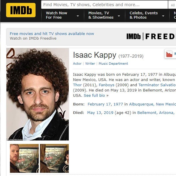 'Thor' movie actor Isaac Kappy dies after forcing himself off Arizona bridge