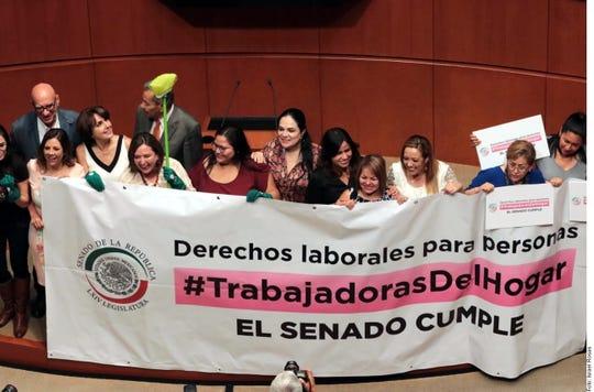 Legisladores emitieron 117 votos a favor y cero en contra en la aprobación de reformas que otorgan derechos a trabajadoras domésticas.