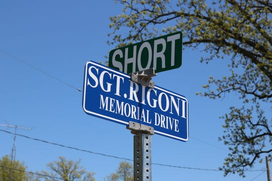 Coinciding with National Police Week, Port Clinton named a road in honor of the late Sgt. Robert Rigoni, who died in a plane crash while responding to an emergency reported on Kelleys Island in 1983.