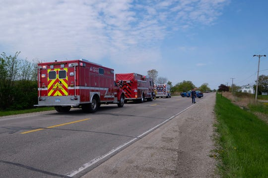 Rescue crews respond to crash at Wadhams and St  Clair Hwy