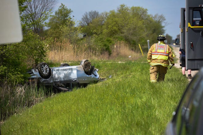 No one was injured following a two vehicle crash in China Township Wednesday.
