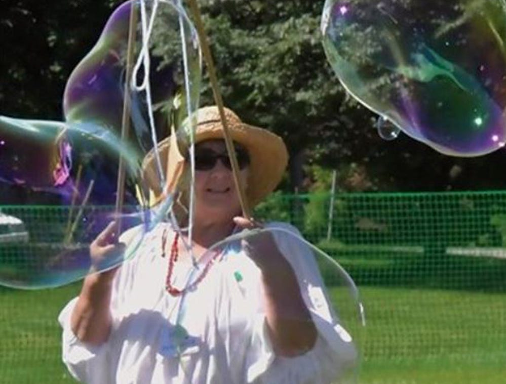 York Bubble Lady Debbie Flaum will be among the entertainers appearing at York County Libraries SummerQuest Kickoff celebrations on Saturday, June 1.  Kids can meet her at the Nixon Park kickoff event. Early registration for the 2019 SummerQuest: A Universe of Stories starts online on Sunday, May 19 at summerquest.yorklibraries.org.  The free program is geared for children from birth to age 18 and runs from June 1 to August 18.  This year's theme explores the universe and is packed with hundreds of family-friendly activities.  All children need to participate is a free York County Libraries card. submitted