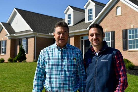 Jeffrey Henry, left, and son Justin are being recognized for sustainability and energy efficiency in building at the York Builders Association awards ceremony on Thursday. The featured home is located at 2716 Farnham Ln, York.Wednesday, May 15, 2019.John A. Pavoncello photo