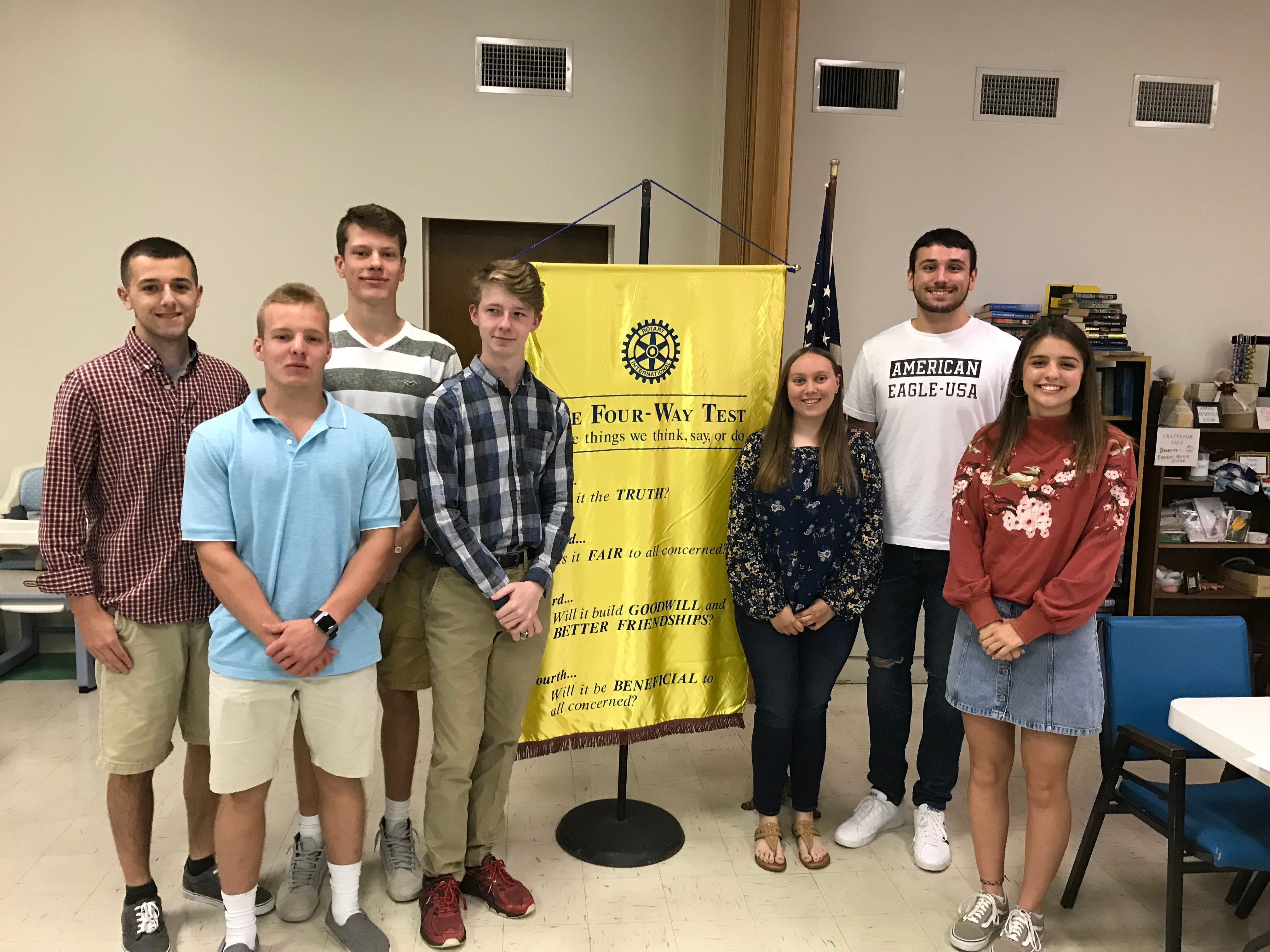 The Rotary Club of Eastern York recognized Eastern York Students of the Month from January through May. Pictured, from left, are Chase Reed, Jonah Dougherty, Stephen Wisler, Josh Mundis, Rachel Bitner, Brady Bixler and Maya Stump. submitted