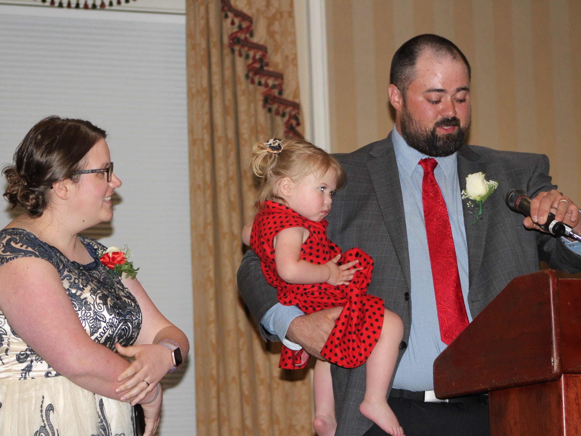 Two-year-old Bristol Miller was the star of the 2019 York Heart Ball. Her parents, Leah and Josh share the story of BristolÕs sudden cardiac arrest and how immediate bystander CPR saved her life. More than 175 business, healthcare and community leaders from across York County came out to support the Grease-themed 2019 York Heart Ball, ÒRev Up Your Heart,Ó on Saturday, April 27 at the Country Club of York. The event raised nearly $200,000 for the American Heart Association, the worldÕs leading voluntary health organization focused on heart and brain health. submitted