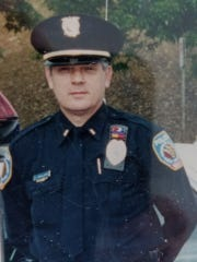 """Susquehanna Township Police Sgt. Robert """"Bo"""" McCallister, who was shot during a gun battle with a bank robbery suspect on Feb. 19 , 1981 and who later died on Jan. 20. The shooter has now been charged with homicide, police said."""