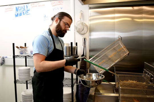 Raymond Pelas, a co-owner and head chef at Noble Wave Restaurant and Brewery in downtown Salem on May 13, 2019. The Cajun, Creole and southern food restaurant and bar will open, starting with limited hours, on May 15.