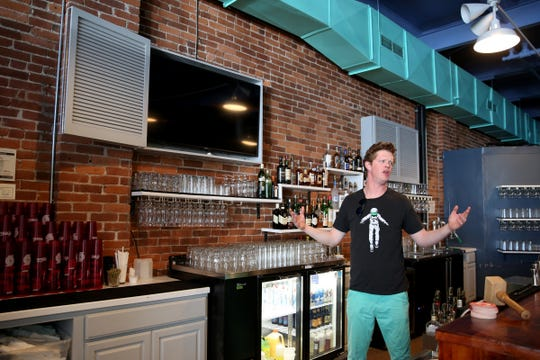 Riley Vannoy, a co-owner of Noble Wave Restaurant and Brewery in downtown Salem on May 13, 2019. The Cajun, Creole and southern food restaurant and bar will open, starting with limited hours, on May 15.