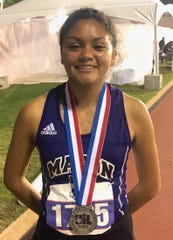 Mason High School's Ana Segura won a silver medal in the Class 2A girls 1,600 meters Saturday, May 11, 2019, at Austin's Mike A. Myers Stadium. The sophomore broke her own school record in the process.
