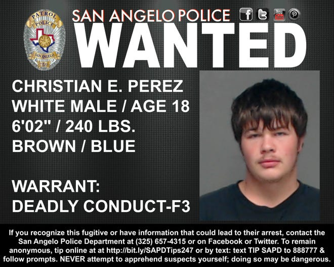Christian E. Perez is being sought by police in a Mothers Day 2019 incident.