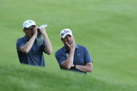 Sheboygan North boys golf coach Andrew Delong, right, was announced Wednesday as the new UW-Stout men's golf coach. DeLong and his wife are alums of the school and grew up in the area.