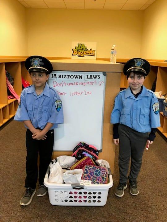 Fifth graders from Elkhart Lake-Glenbeulah Middle visited JA BizTown.