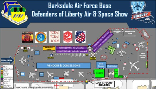 Ramp layout for Barksdale Air Show