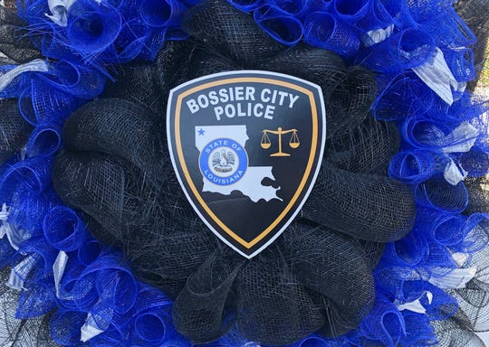 Bossier City Police Department wreath