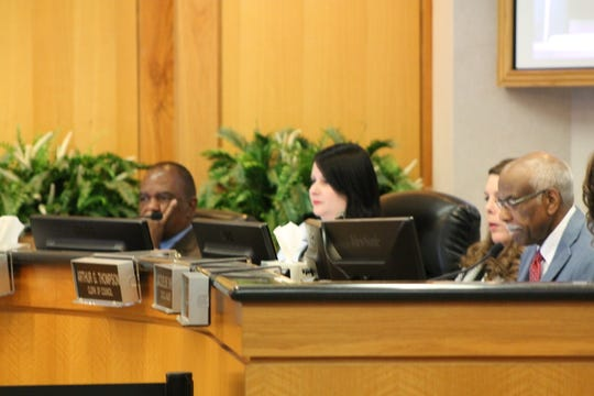 Assistant City Attorney Karen Strand at a City Council meeting May 14.