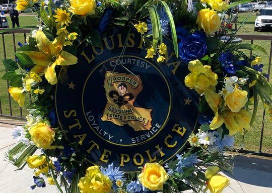 Louisiana State Police wreath