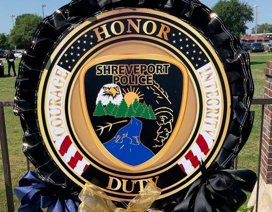 Shreveport Police Department wreath.