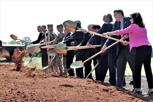 May 15, officials turned dirt at a ground breaking ceremony for a new road in Bossier.