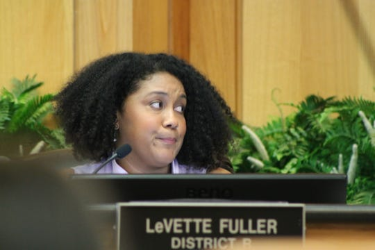 Councilwoman LeVette Fuller at a City Council meeting May 14.