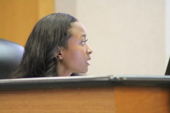 Chief Administrative Officer for the mayor, Sherika Fields Jones, at a City Council meeting May 14