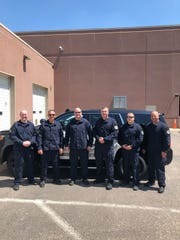 Six Sioux Falls police officers traveled to the Black Hills on Tuesday, May 14, 2019 to help search for 9-year-old Serenity Dennard, who disappeared in February.
