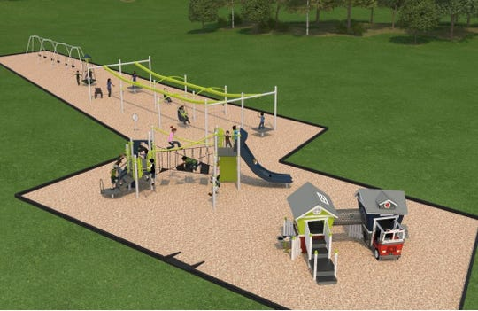 The city of Sartell unveiled at a May 13 meeting the winning design for a new playground to be built at Watab Creek Park this fall or next spring. More than 1,200 residents voted on possible designs.