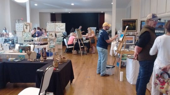 """Tallahassee Junior Woman's Club and Artists Helping Artists will present """"Artists Overflow,""""a sale of artwork and art supplies on Sunday."""