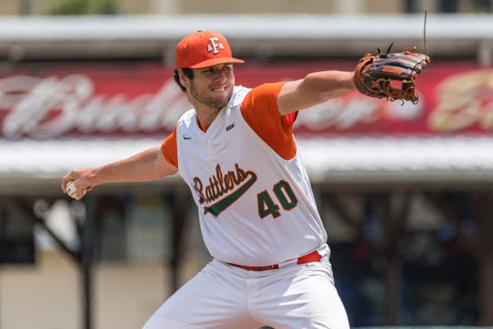 FAMU pitcher Kyle Coleman threw a complete game in a 13-3 win over Delaware State in the first round of the MEAC Baseball Championship at Jackie Robinson Ballpark in Daytona Beach.