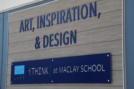 The art, inspiration and design classroom is one of three classrooms made from recycled shipping containers in the new Beck Family Research Center on the Maclay School campus Wednesday, May 15, 2019.