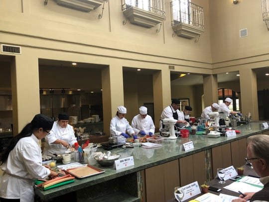 Culinary students from Rio Mesa, Channel Islands, Oxnard and Pacifica high schools compete in the timed Sweets by the Beach cooking contest at Embassy Suites by Hilton Mandalay Beach Resort in Oxnard.