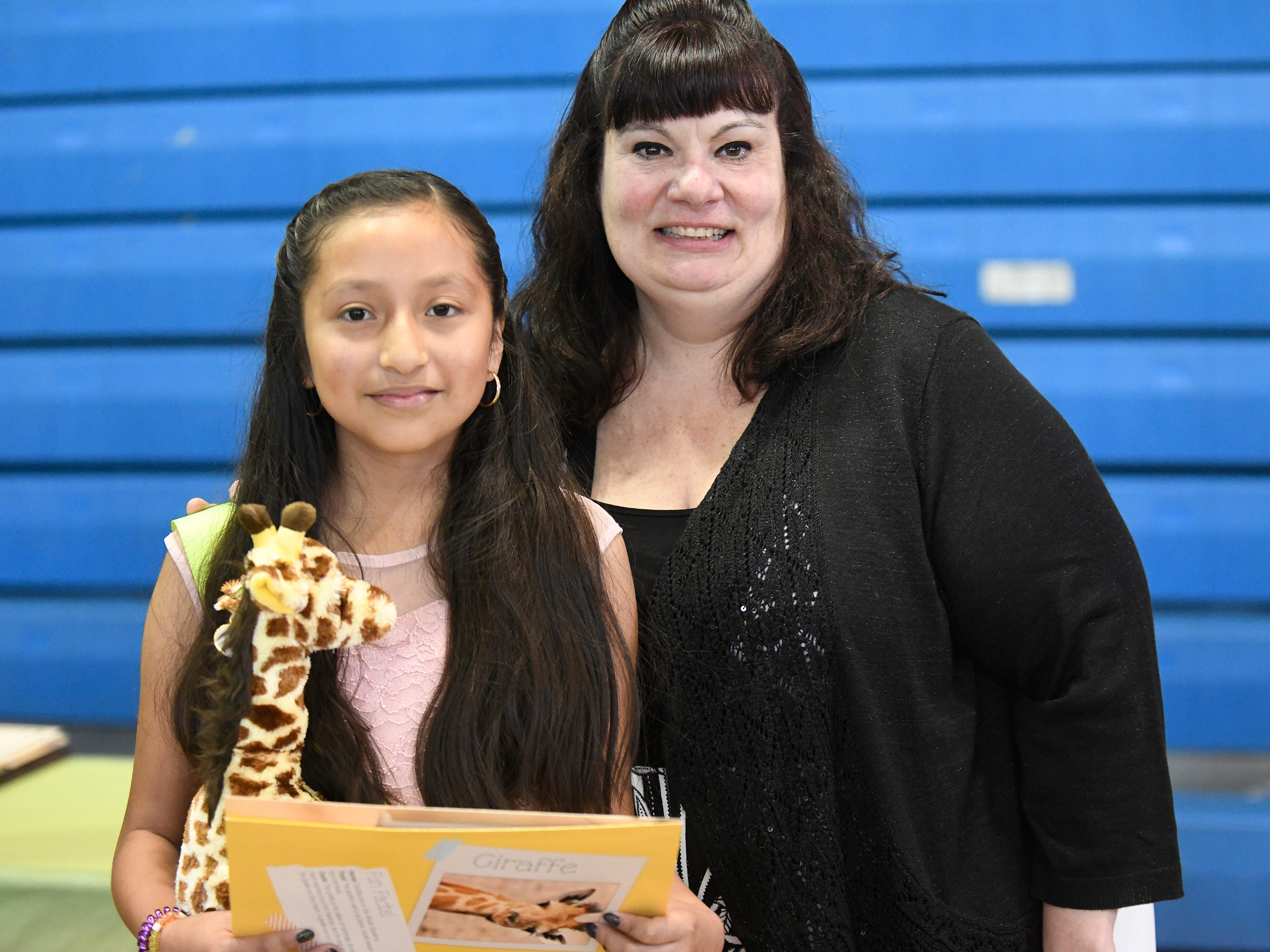 Marie Durand Elementary School student Marely Garcia Flores was presented with a Giraffe Hero Award during a special ceremony on Wednesday, May 15, 2019.