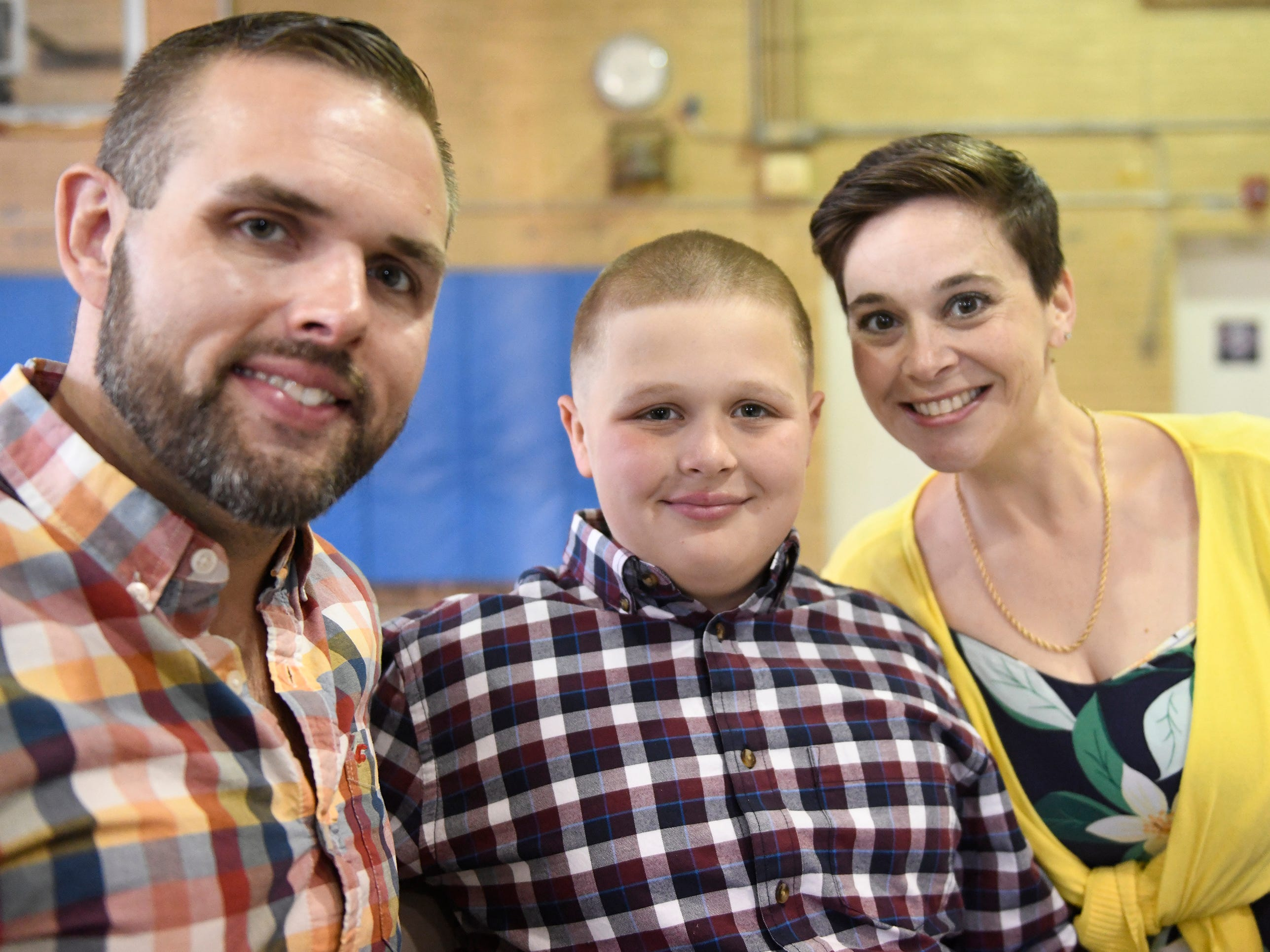 Winslow Elementary School student Zachary Zavis was presented with a Giraffe Hero Award during a special ceremony on Wednesday, May 15, 2019.