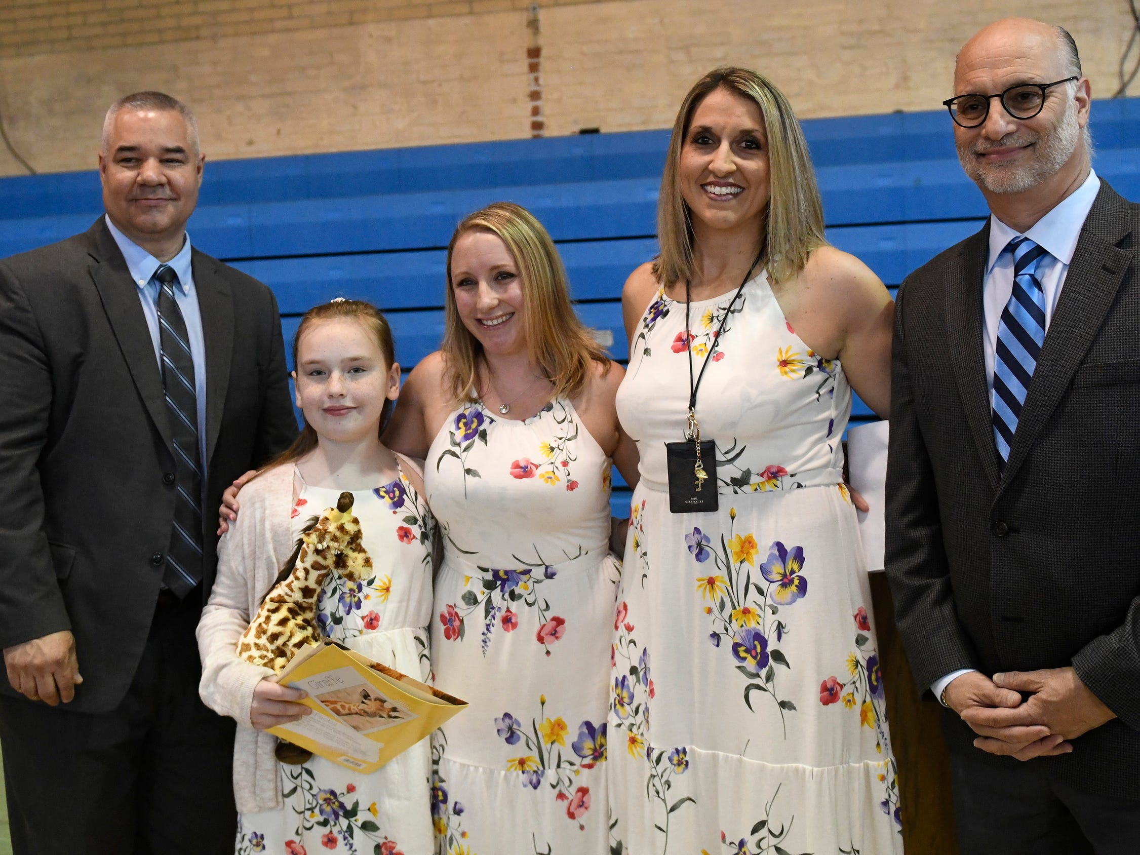 Dippolito Elementary School student Riley Rizzo was presented with a Giraffe Hero Award during a special ceremony on Wednesday, May 15, 2019.