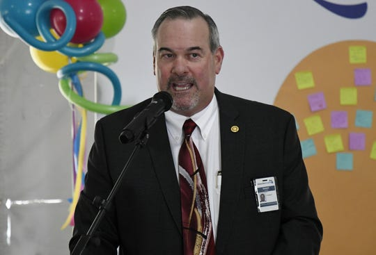 Adventist Health Tulare President Randy Dodd speaks about the hospital's official name change at an event on Wednesday, May 15, 2019.