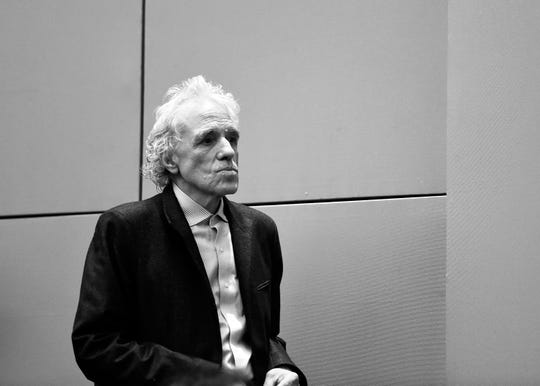 "Director Abel Ferrara attends the 55th New York Film Festival presentation of - ""Piazza Vittorio"" at The Film Society of Lincoln Center, Walter Reade Theatre on October 12, 2017 in New York City."