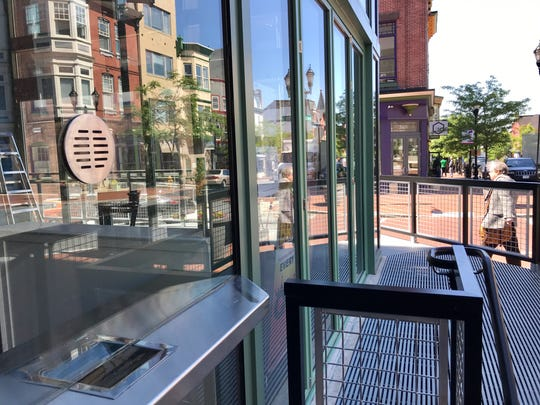 A new walk-up box office window has been added at The Queen.