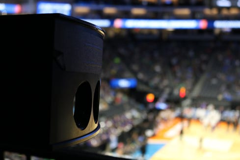 During the NCAA March Madness tournament, the broadcast  showcased  Intel True VR and 360-degree replay technologies.