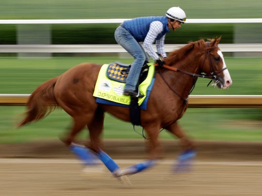 Improbable finished fourth in the Kentucky Derby.