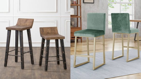 Upgrade your eating space with a set of gorgeous bar stools.